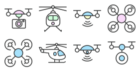 Aerial UAV [cartoon color] Icon Icons